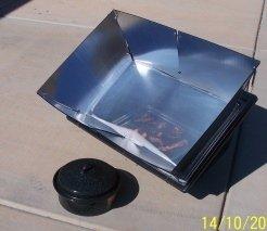 Solar cooker bacon
