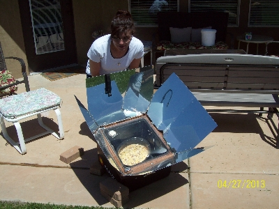 Solar Cooking our Lasagna