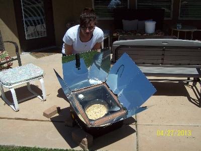 Solar Cooking our Lasagna
