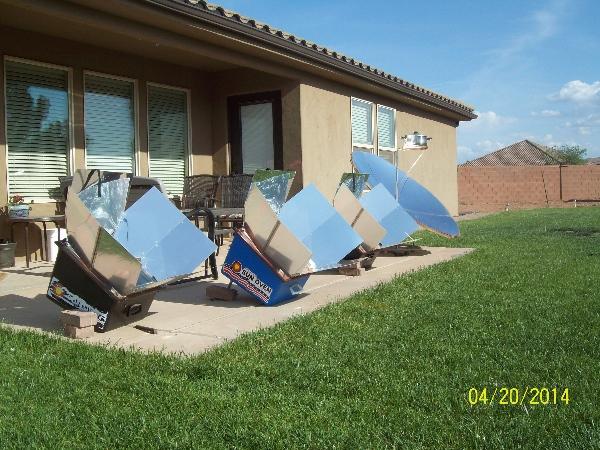Three Sun Ovens and Solar Parabolic