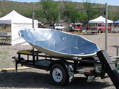 Very Large Parabolic Solar Cooker