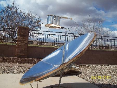 Solar Cooking between clouds