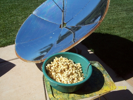 Solar Cooker Honey Popcorn