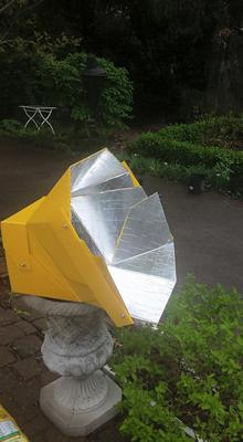 Nice garden ornament, an All Season Solar Cooker
