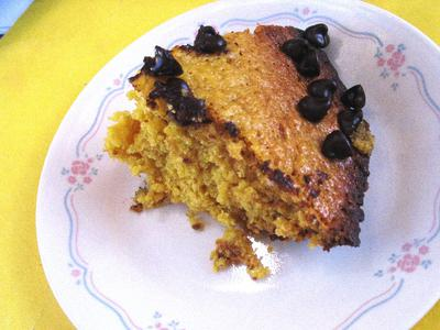 Solar Cooked Orange Chocolate Chip Cake