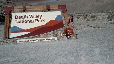 At the entry to Death Valley