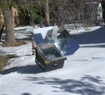 Sun Oven Cooking in the snow