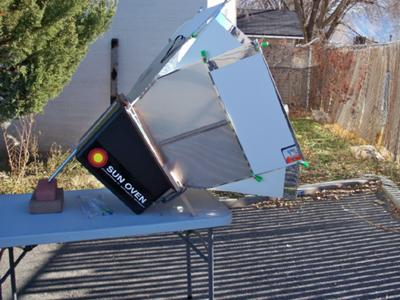 Sun Oven-Enhanced angle and reflectors