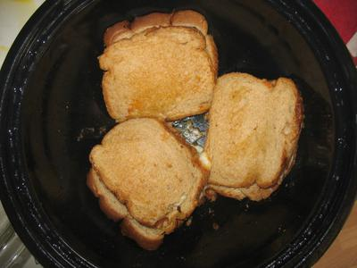Grilled Cheese Sandwich in the Hot Pot