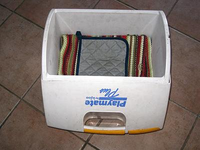 Cooler Lined with Towels