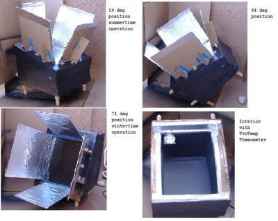 Cardboard Solar Box Oven