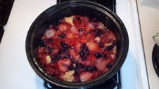 Solar Cooked Berry Cobbler