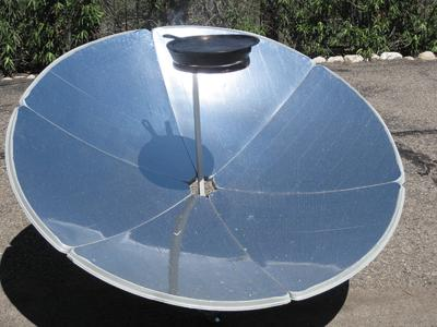 Frying Pan on Parabolic Cooker