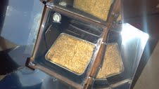 Toasting the granola mix