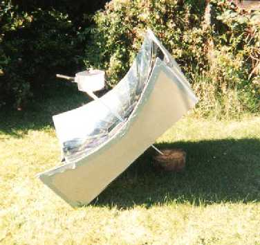 Homemade Parabolic cooker