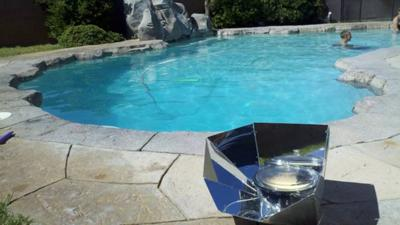 Poolside Solar Cooking