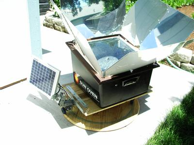 Homemade Solar Cooker tracking device