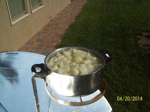 Potatoes on the Solar Burner