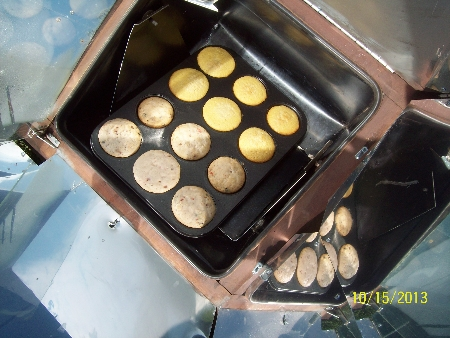 regular muffin pan in a Sun Oven