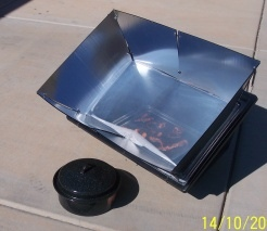 Solar cooker bacon