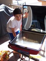 Solar Cooker lasagna