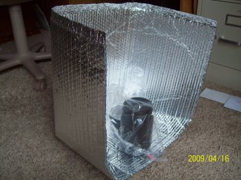 Completed Solar Panel Cooker