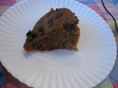 Slice of Sunbeam Banana Bread from the Hot Pot