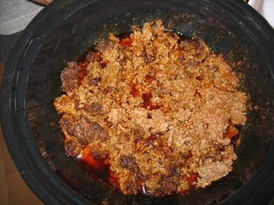 Taco Meat from the Hot Pot Solar Cooker