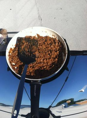 Nice and browned taco meat from the SolSource