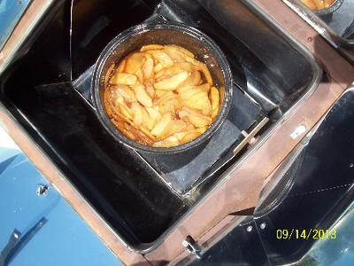 Solar Baked Cinammon Apples