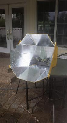My Finished All Season Solar Cooker