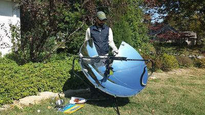 Nice sunny day and very effective SolSource cooking