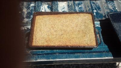 Solar Cooked Butter Cake