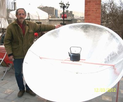 deep focus solar cooker