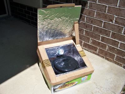 Steve's Homemade Solar Box Cooker