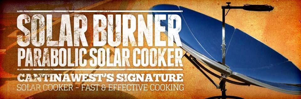 Solar Burner Parabolic Cooker