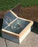 One panel solar box cooker