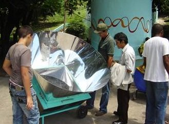 Solar Box Cooker with panels all around