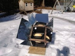 Winter solar cooking