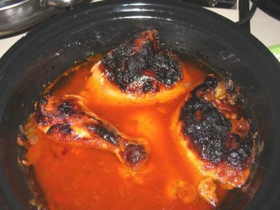 Hot Pot chicken, well done
