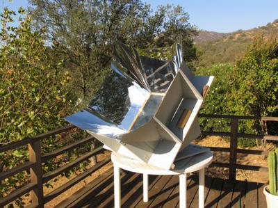 Homemade box cooker (solar oven)