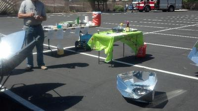 All of our solar cookers  being utilized
