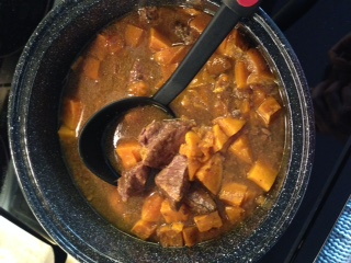 Solar Cooked Carribean Beef Stew