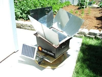 James Simmons' Homemade Solar Cooker tracking device