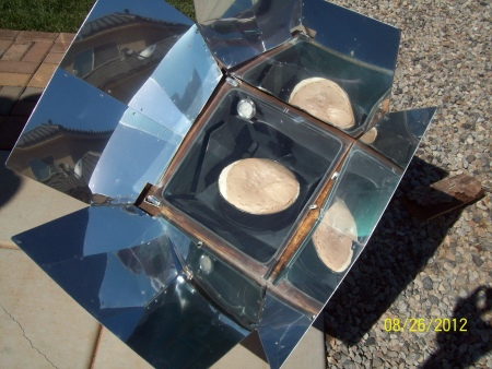 Solar Chocolate Cheescake in Sun Oven