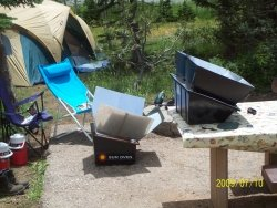Sun Oven and Sport Oven at summer camp