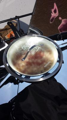 My nifty SolSource designed cooking pan