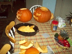 Halloween Pumpkins for pumpkin pie