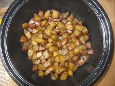 Seasoned Potatoes in the Hot Pot