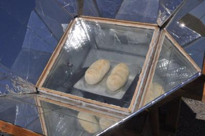 Solar Cooked French Bread